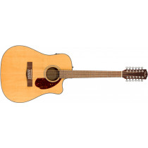 Fender CD-140SCE12-strengs  Natur med hard shell  med koffert   i prisen
