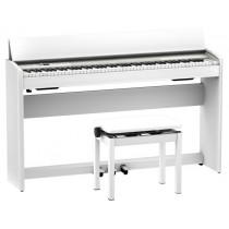 Roland F701 WH Digitalpiano SuperNATURAL hvit matt finish med Bluetooth. PHA-4 tastatur.